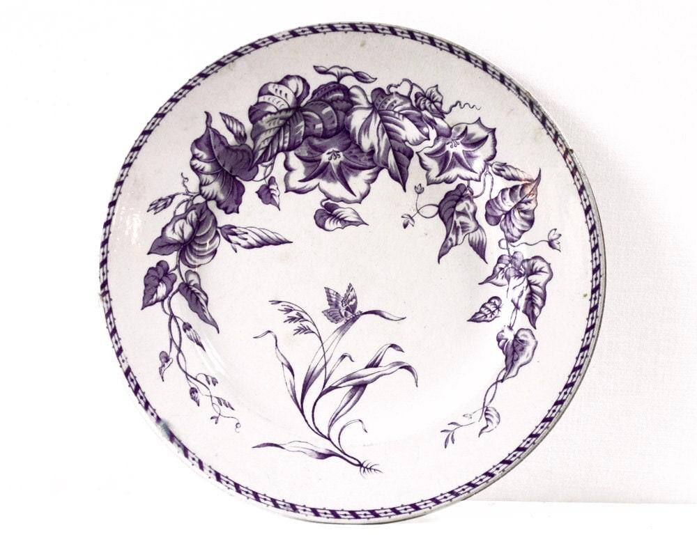 lavender purple toile transferware - photo #28
