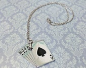 Wonderland Series Ace of Spades Necklace