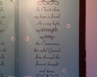 In Christ Alone-Vinyl Wall Saying