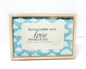 """Birthday Gift, Dorm Decor : 4x6 Framed Quote - """"But no matter what love throws at you, you have to believe in it"""" Taylor Swift Quote"""