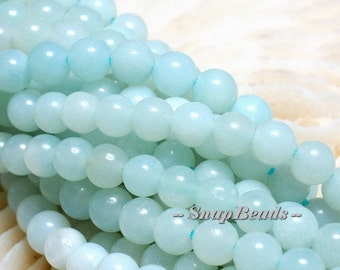 4MM Aqua Berry Peruvian Amazonite Gemstone Round 4MM Loose Beads 8 inch Half Strand (10233718-39)