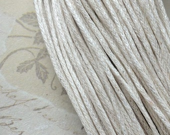1 mm  Beige Colour Waxed Cotton Cord (.mcc)