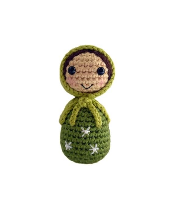 Crochet Russian Doll in Green