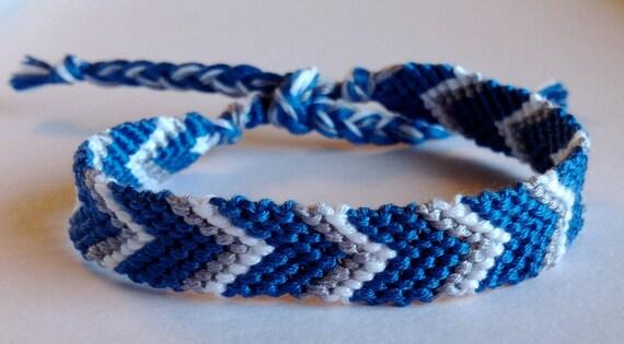 Dallas Cowboys - Blue, White & Grey Chevron Friendship Bracelet