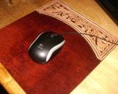 Western style Leather Mouse Pad
