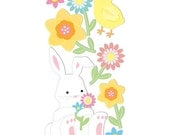 Sandylion Essentials Stickers -- Easter Bunny and Flowers -- chick, flowers, bunny, spring, easter