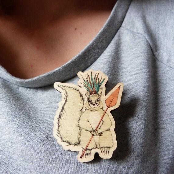 Wild Wilhelmina the Squirrel Brooch