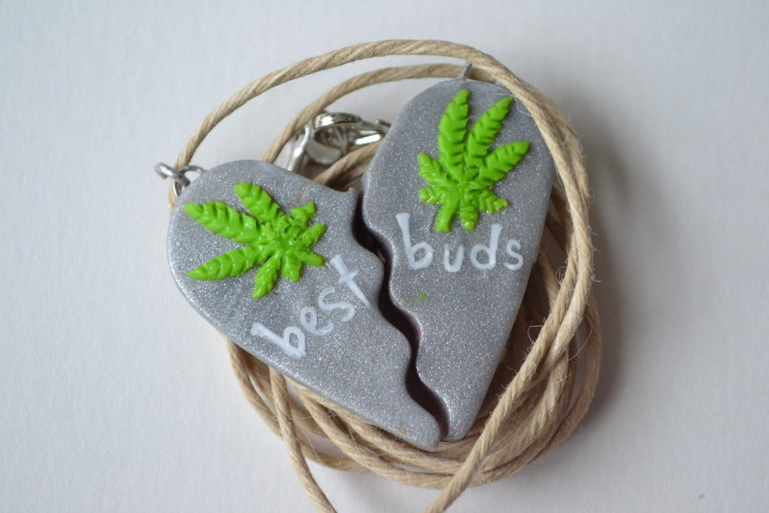metallic best buds necklaces fully customizable by