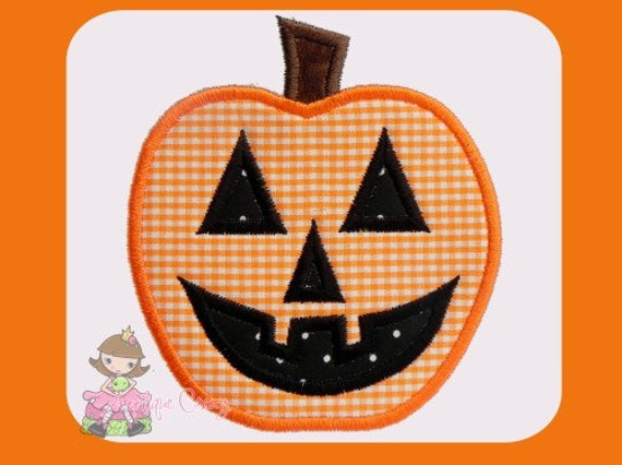 Jack o'latern Applique design