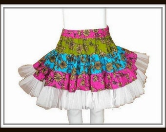 Ruffle Skirt  Sewing Pattern , INSTANT DOWNLOAD, Twirly Swirly Skirt  with head band (pdf pattern), Childrens Skirt Pattern