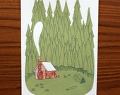 Down to the Woods - A4 Screenprint