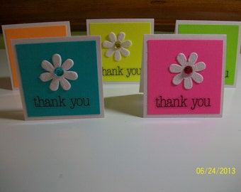 Mini Thank You Notecards (set of 5)