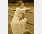 Antique Handmade 1914 Wedding Dress