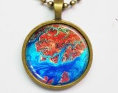 Geographic Photograph Necklace -Guinea Bissau-Geography Series