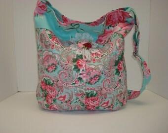 Cotton shabby chic bucket bag