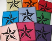 One Nautical Star canvas patch in any color you choose....FREE SHIPPING USA
