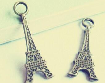 30pcs Antique Bronze Eiffel Tower Charms 12x32mm D504-5
