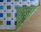 On SALE Green and Blue Boy BABY QUILT was 150.00