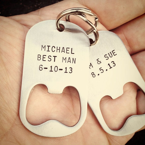 items similar to set of 8 bridesmaid gifts personalized bottle opener keychains wedding gift. Black Bedroom Furniture Sets. Home Design Ideas