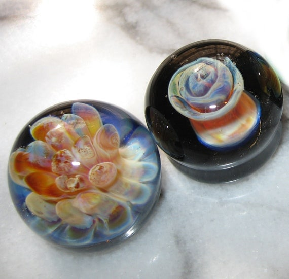 Reserved for JDowney - Lot of 2 - Glass Implosion Flat Bottom Marbles
