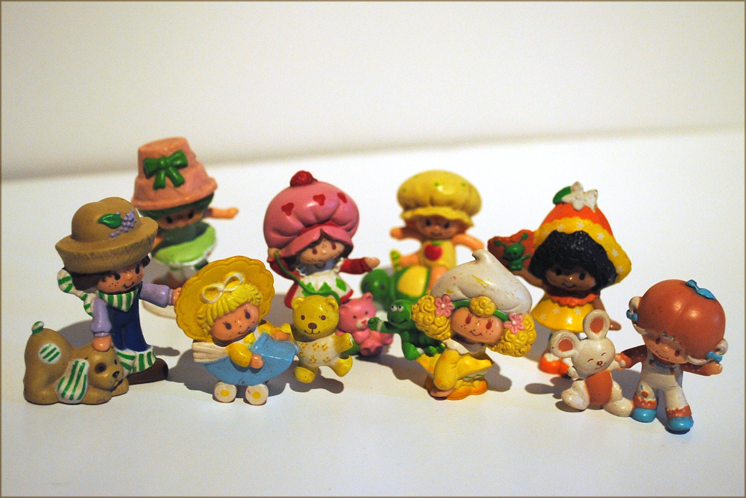 1980s Strawberry Shortcake Figurines Toys By
