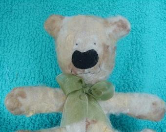 Adorable Teddy Bear Artist Bear Felted Plush Plushie Soft Animal Softie Soft Sculpture Ooak