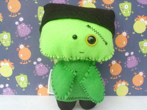 Frankenstein Monster Art Doll Horror Sci Fi Figurine Miniature ooak Halloween