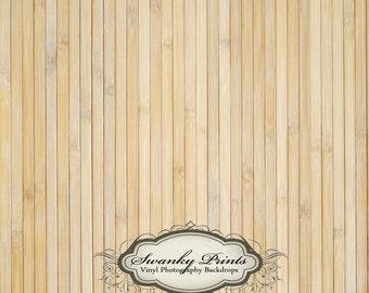 5ft x 5ft Vinyl Photography Backdrop / Custom Photo Prop / Thin Light Bamboo Floor