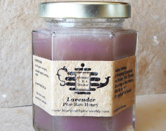 Honey Tea Organic Lavender infused!  8 oz, pure raw honey.