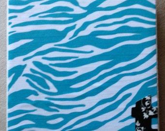 Zebra Monogram Coasters