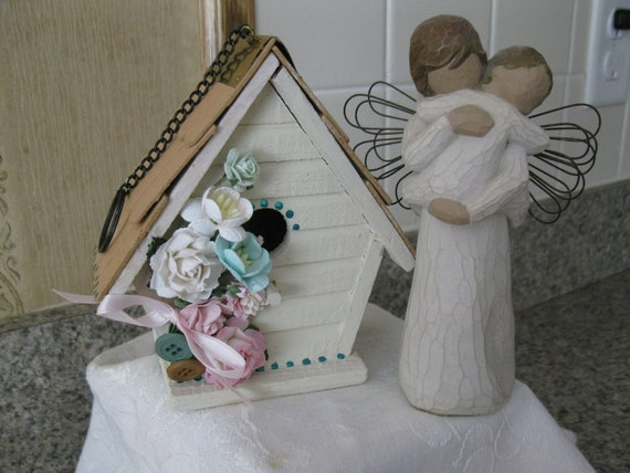 Shabby Chic Birdhouse In the Pinks