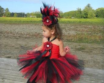 Black and Red Zebra  Tutu Dress, Pageant Dress, Flower Girl Dress, Kids Birthday Tutus, Kids Photo Props