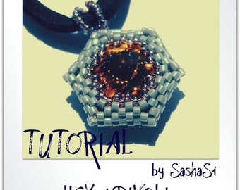 HEXed RIVOLI Beading Tutorial DOWNLOAD - Step-by-Step Beading instructions - PDF File
