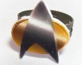 Communicator Ring - Star Trek Fan Plastic Trekkie Jewelry by Enrah