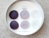 Glass Gem Magnets - Plum Purple FREE SHIPPING