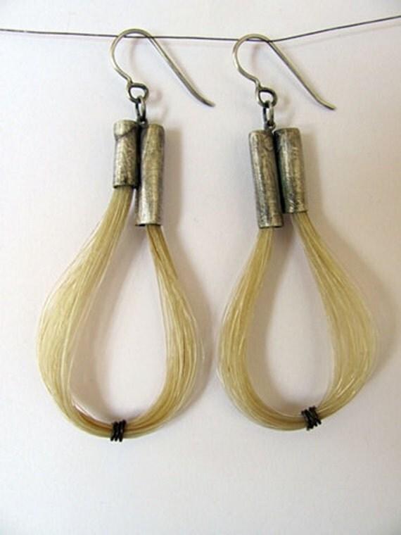 Horse Hair Hoop Earrings