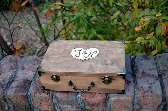 MEDIUM  Vintage Style Keepsake Box/Suitcase Card Box