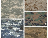 Military Minky Blanket -  Customize Your Own Twin Size Camouflage Blanket - Embroidery Included
