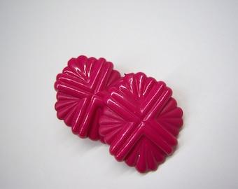 vintage hot pink earrings