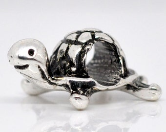 Silver Turtle Beads 18x13mm - 5pcs - Ships IMMEDIATELY  from California - B131