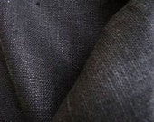 Flax Bed Linen Set... Queen Size Flat Sheet and Two Pillowcases Charcoal, Black Eco - Custom size
