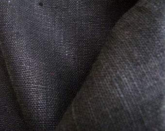 "Linen Pillowcase Black Flax 20""x30"" Handmade Eco"
