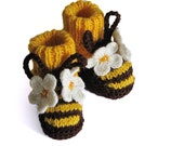 Baby booties Funny Bees / size for 3-6M