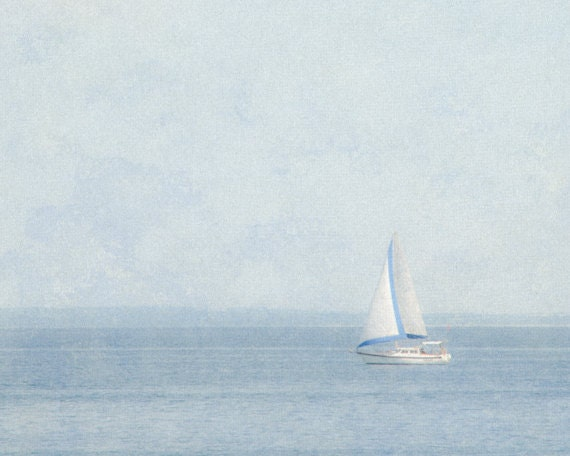 Items similar to sailboat photography 8x10 light blue for Minimalist house boat