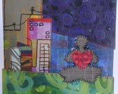 Fine Art Print of my Original Painting titled Love and Peace in the City 12x12