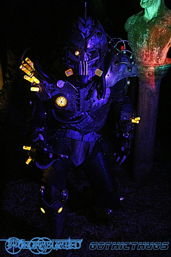 The Steam Freak 2.0 LIGHT UP Steampunk Wasteland Apocalypse full suit with steam unit