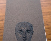 Phrenology Head Large Note Pad- Speckled Brown