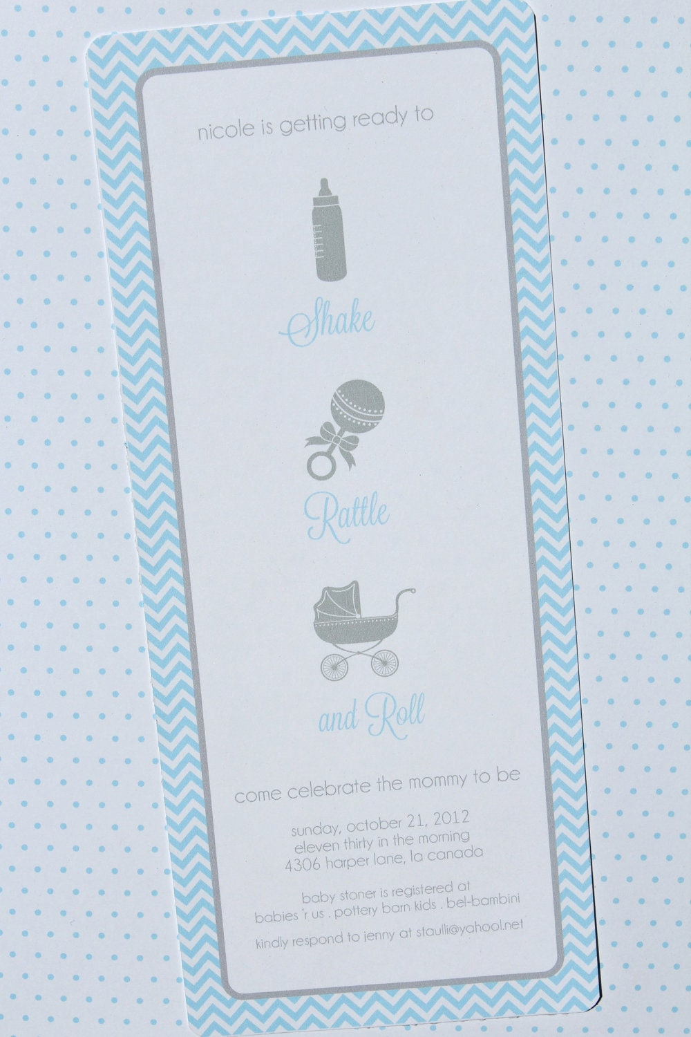 Printable Invitations Shake Rattle And Roll Baby Shower By