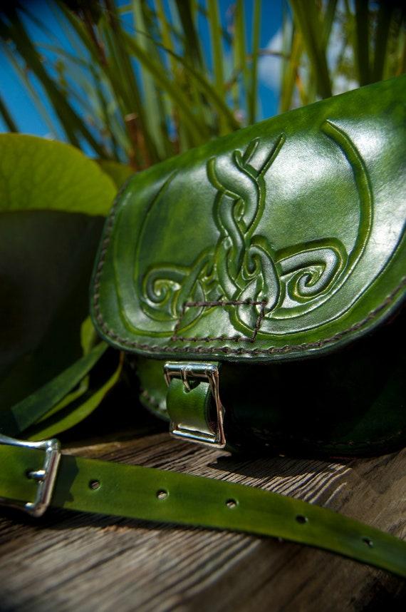 Green Handmade Leather Handbag