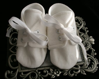 LINEN White Linen Baby Boy Shoes, Cotton, Sizes Newborn to 18 months, Christening, Baptism, Dedication, Easter, Special Occasion